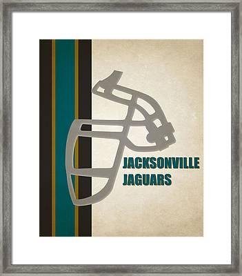 Retro Jaguars Art Framed Print