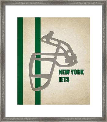 Retro Jets Art Framed Print by Joe Hamilton