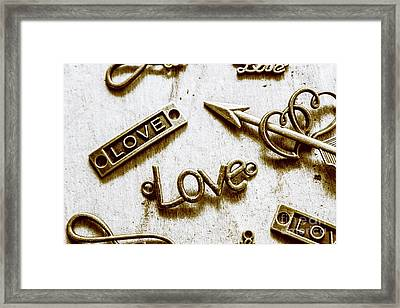 Retro Love Heart Jewels  Framed Print by Jorgo Photography - Wall Art Gallery