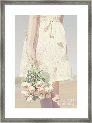 Retro Love Loss Framed Print