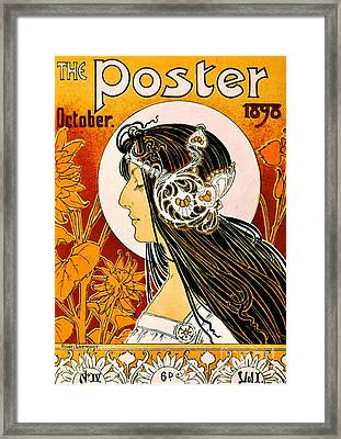 Retro Magazine Cover 1898 Framed Print by Padre Art