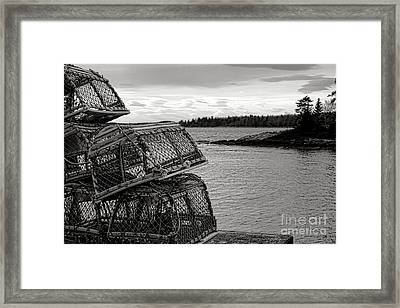 Retro Maine Scene  Framed Print by Olivier Le Queinec