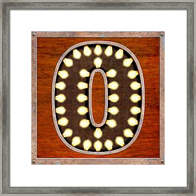 Retro Marquee Lighted Letter O Framed Print by Mark E Tisdale