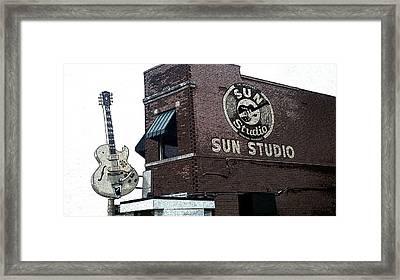 Retro Memphis Street Framed Print by Rebecca Brittain