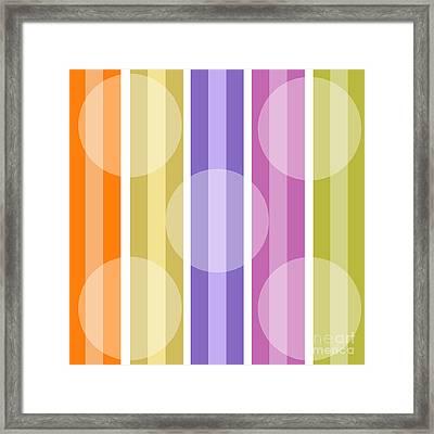 Retro Metro Warm Stripe Framed Print