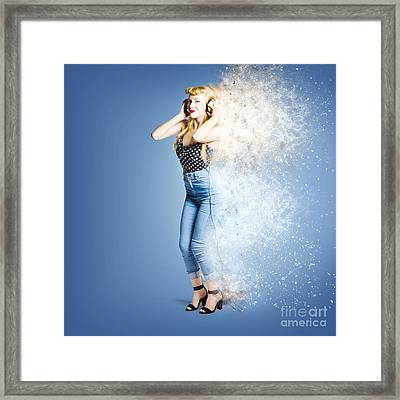 Retro Music Explosion Framed Print by Jorgo Photography - Wall Art Gallery