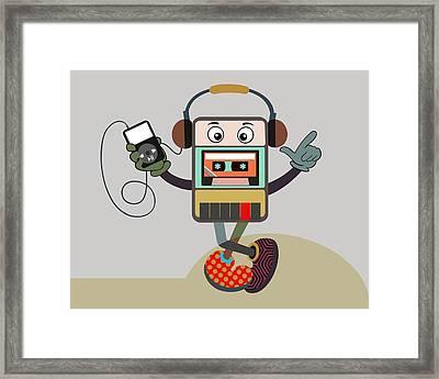 Retro Music Playlist IIi Framed Print by Lanre Studio