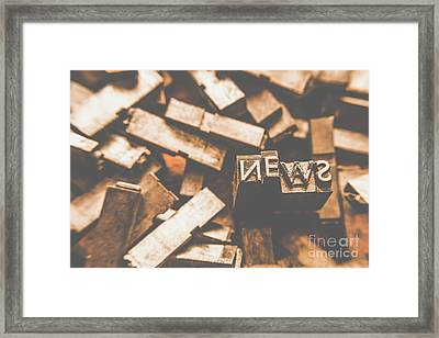 Retro News Print  Framed Print