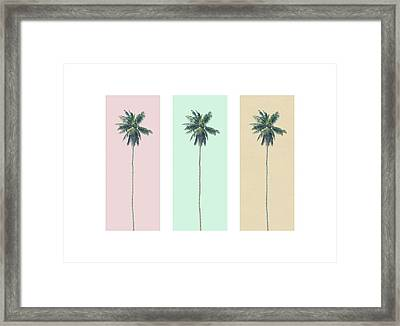 Retro Palms Framed Print