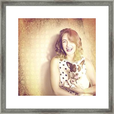 Retro Pets And People Framed Print by Jorgo Photography - Wall Art Gallery