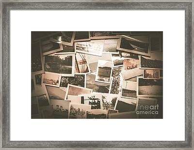 Retro Photo Album Background Framed Print
