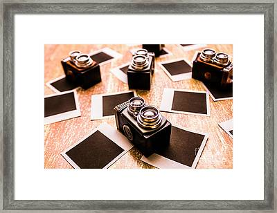 Retro Photographic Scene Framed Print