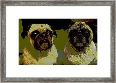 Retro Pugs Framed Print by HP Hwang