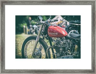 Retro Racing Framed Print