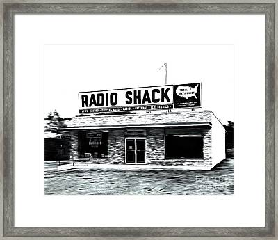 Retro Radio Shack Framed Print by Edward Fielding