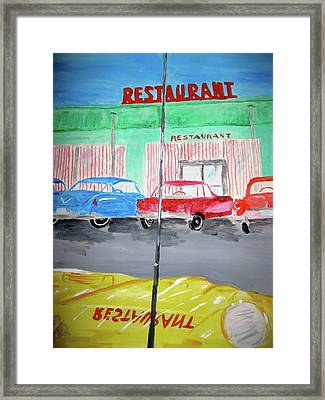 Retro Restaurant Framed Print