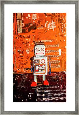 Retro Robotic Nostalgia Framed Print