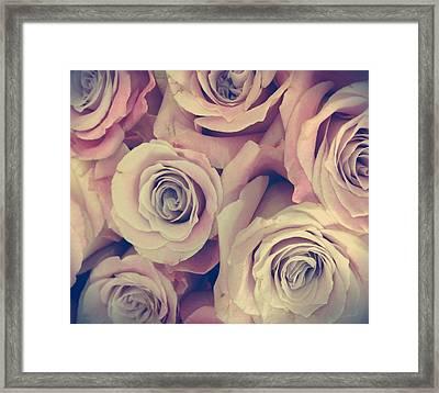 Retro Roses Framed Print