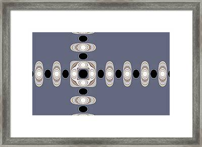 Framed Print featuring the digital art Retro Shapes 1 by Fran Riley