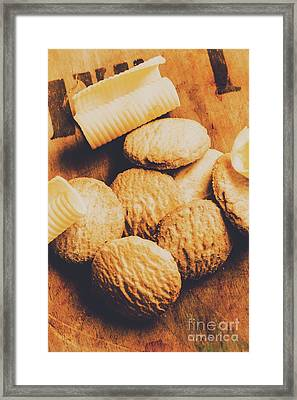 Retro Shortbread Biscuits In Old Kitchen Framed Print by Jorgo Photography - Wall Art Gallery