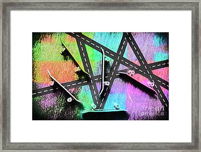 Retro Skaters Parade Framed Print by Jorgo Photography - Wall Art Gallery