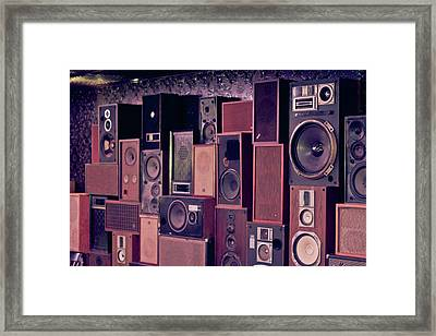 Retro Sound Framed Print