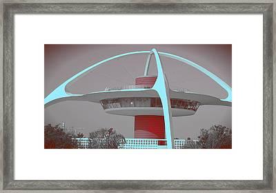 Retro Spaceship Aka La Airport Framed Print by Matthew Bamberg