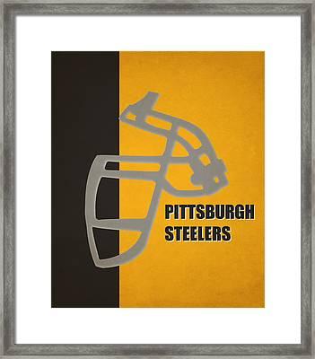 Retro Steelers Art Framed Print by Joe Hamilton