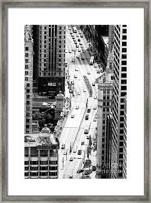 Retro Streets Of Chicago Framed Print