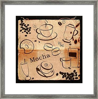 Retro Style Coffee Design Framed Print by Serena King
