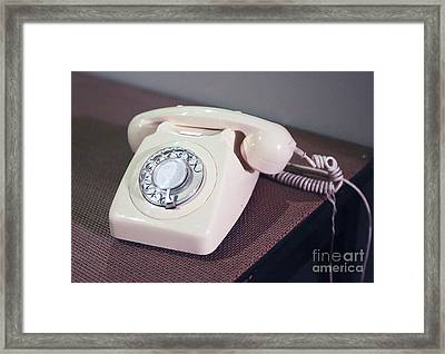 Retro Telephone Framed Print by Patricia Hofmeester