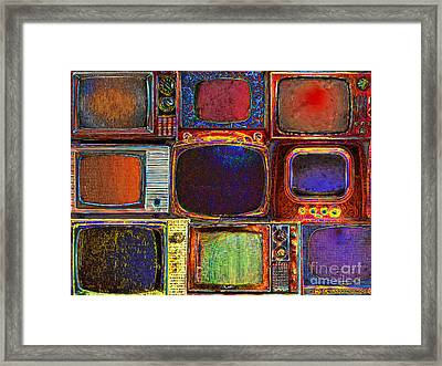 Retro Television Marathon 20150928 Framed Print by Wingsdomain Art and Photography