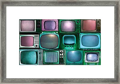 Retro Television Marathon 20150928long V2 P138 Framed Print by Wingsdomain Art and Photography