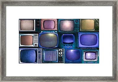 Retro Television Marathon 20150928long V2 P180 Framed Print by Wingsdomain Art and Photography