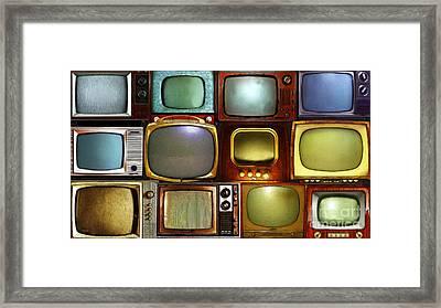 Retro Television Marathon 20150928long V2 Framed Print