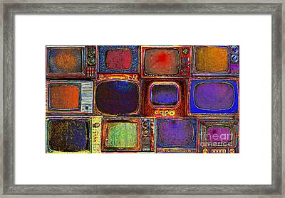 Retro Television Marathon 20150928long Framed Print by Wingsdomain Art and Photography