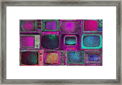 Retro Television Marathon 20150928longm68 Framed Print by Wingsdomain Art and Photography