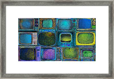 Retro Television Marathon 20150928longp180 Framed Print by Wingsdomain Art and Photography