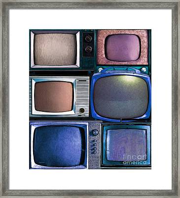Retro Television Marathon 20150928vertical V2 P180 Framed Print by Wingsdomain Art and Photography