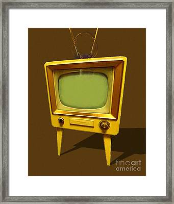 Retro Television With Rabbit Ears 20150905 Framed Print by Wingsdomain Art and Photography