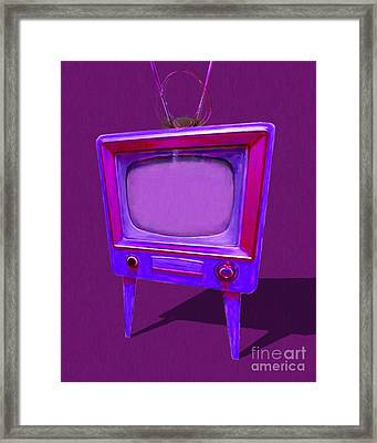 Retro Television With Rabbit Ears 20150905 Ym150bc Framed Print by Wingsdomain Art and Photography