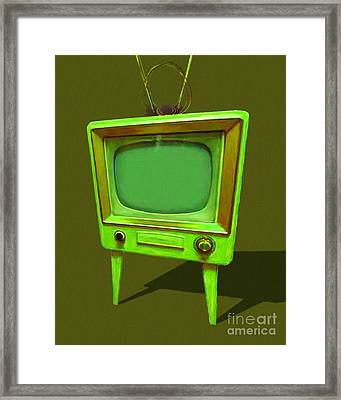 Retro Television With Rabbit Ears 20150905 Yp45 Framed Print by Wingsdomain Art and Photography