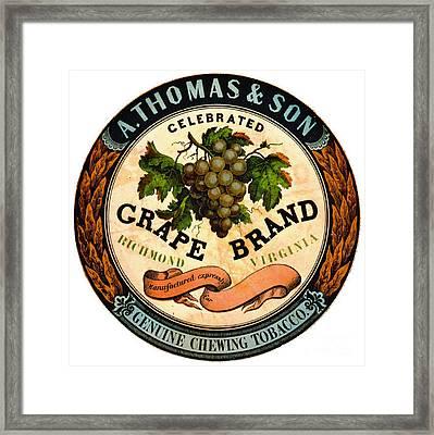 Retro Tobacco Label 1860 A Framed Print