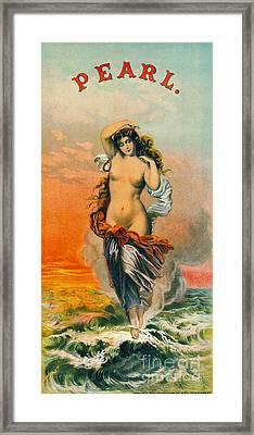 Retro Tobacco Label 1871 Framed Print by Padre Art