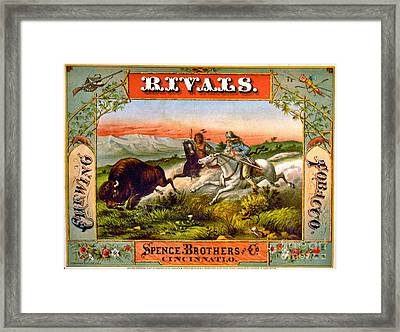 Framed Print featuring the photograph Retro Tobacco Label 1872 D by Padre Art
