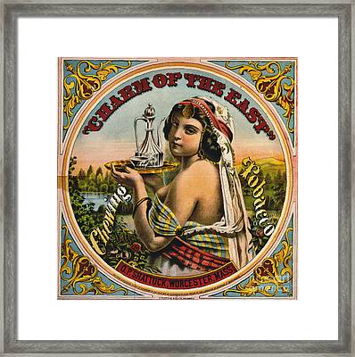 Retro Tobacco Label 1872 Framed Print by Padre Art