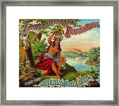 Retro Tobacco Label 1874 B Framed Print by Padre Art