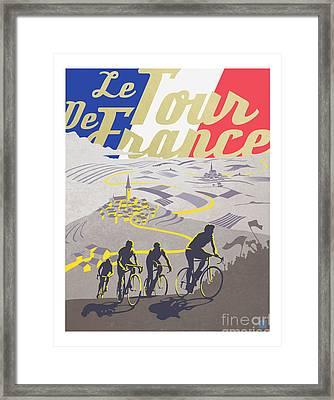 Retro Tour De France Framed Print