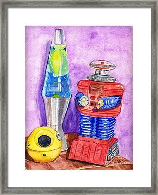 Retro Toys Framed Print by Lynne Reichhart