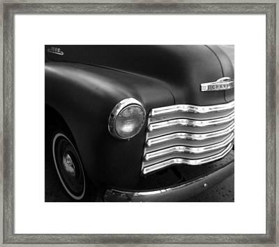 Retro Truck Framed Print by Nicole I Hamilton